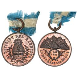 Argentina, bronze military medal, 1882-83, Andes Campaign.