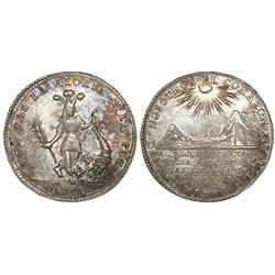 Potosi, Bolivia, 2 soles-sized silver proclamation medal, 1838, Socobaya / Department of Potosi, NGC
