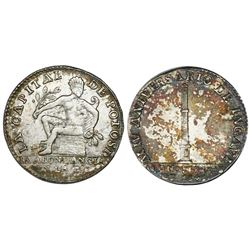 Potosi, Bolivia, 1 sol-sized silver medal, 1841 (issued in 1844), Battle of Yngavi, ex-Cotoca Collec