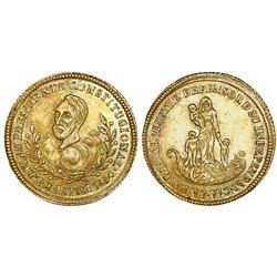 Potosi, Bolivia, 1 escudo-sized gold proclamation medal, 1854MY, Belzu, ex-Reinhart, ex-Cotoca.