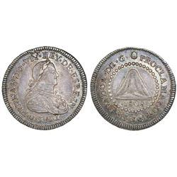 El Salvador, silver 1R-sized proclamation medal, Ferdinand VII, 1808.