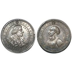 Saxe-Gotha-Altenburg (German States), silver medal, (1717), Martin Luther - Reformation 200th Annive