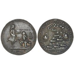 Great Britain, copper-alloy medal, Admiral Vernon, 1739, Porto Bello / Lezo.