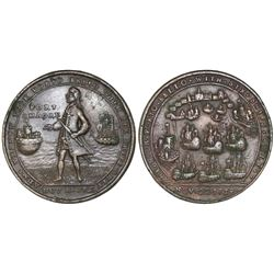 Great Britain, copper-alloy medal, Admiral Vernon, 1739, Porto Bello / Fort Chagre.