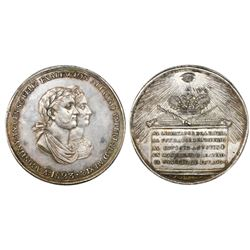 Mexico, silver proclamation medal, Iturbide, 1823, State Council, NGC MS 61.