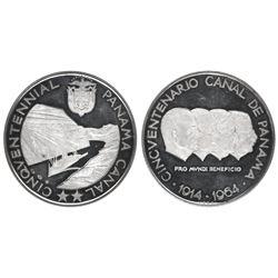 Panama, silver medal, 1964, Panama Canal 50th Anniversary, NGC PF 61 Ultra Cameo.