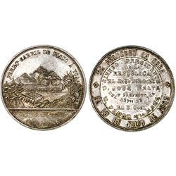 Peru, silver medal, 1869, Pisco Mineral Railway, NGC MS 62, ex-Cotoca Collection.