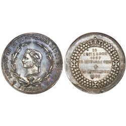 Philippines, silvered bronze medal, 1885, Alfonso XII Memorial.
