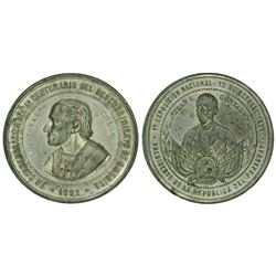 USA (struck in Italy for Paraguay), large white-metal medal, Columbian Exposition, 1892, by R. Muzio