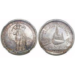 "USA, silver ""so-called dollar,"" 1914, Panama California Exposition - Official Medal, NGC MS 64."