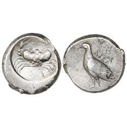Sicily, Akragas, AR didrachm, ca. 490-480 BC.