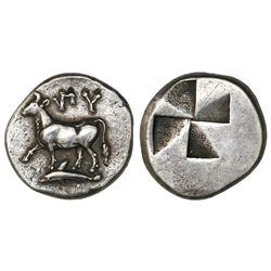 Thrace, Byzantium, AR siglos, 340-320 BC.