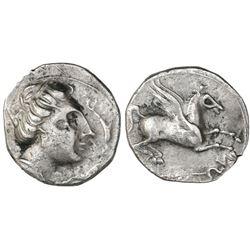 Hispania, Emporion, AR imitation drachm, ca. 250-220 B.C.