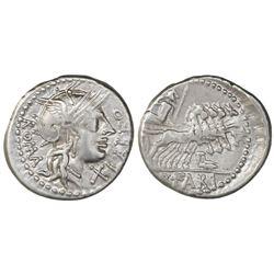 Roman Republic, AR denarius, Q. Fabius Labeo, 124 BC.
