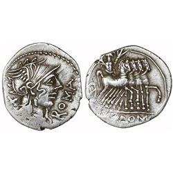 Roman Republic, AR denarius, Cn. Domitius Ahenobarbus, 116-115 BC.