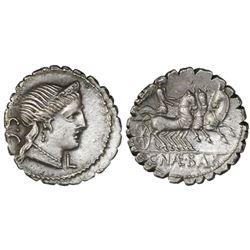 Roman Republic, AR denarius, C. Naevius Balbus, 79 BC, Rome mint.