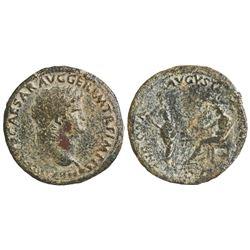 Roman Empire, AE sestertius, Nero, 54-68 AD, struck 64 AD.