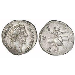 Roman Empire, AR denarius, Antoninus Pius, 138-161 AD.