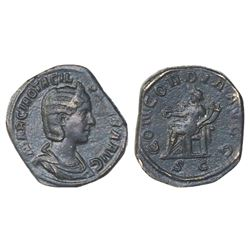Roman Empire, AE sestertius, Octacilia Severa (wife of Philip I), 244-249 AD.