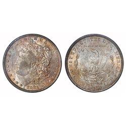 USA (Philadelphia mint), $1 Morgan, 1881, NGC MS 64.