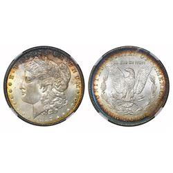 "USA (Philadelphia mint), $1 Morgan, 1887, VAM-12A DDO gator & clash ""top 100,"" NGC MS 65."