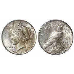 USA (Philadelphia mint), $1 Peace, 1934, PCGS MS63.