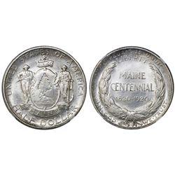 USA (Philadelphia mint), half dollar, 1920, Maine, NGC MS 65.