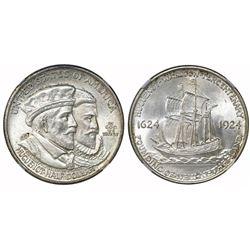 USA (Philadelphia mint), half dollar, 1924, Huguenot, NGC MS 65.