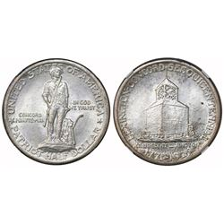 USA (Philadelphia mint), half dollar, 1925, Lexington-Concord, struck through error, NGC MS 62.