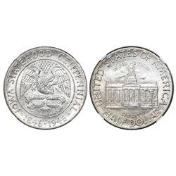 USA (Philadelphia mint), half dollar, 1946, Iowa, NGC MS 67.