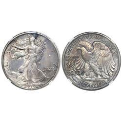 "USA (Philadelphia mint), half dollar ""Walking Liberty,"" 1919, NGC XF details / cleaned."