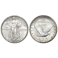 "USA (Philadelphia mint), quarter dollar ""Standing Liberty,"" 1930, PCGS AU58, CAC."