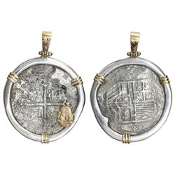 Mexico City, Mexico, cob 8 reales, Philip III, assayer not visible, Grade 2, from the Atocha (1622),