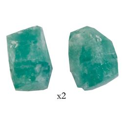 Natural emerald, 1.7 carats, grade 2B, from the Atocha (1622).
