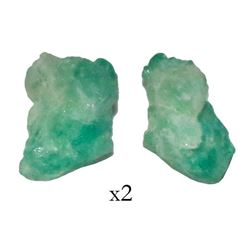 Natural emerald, 0.8 carat, grade 2B, from the Atocha (1622).