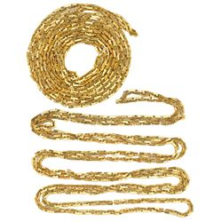 "Long gold chain, 66"", from the Maravillas (1656)."