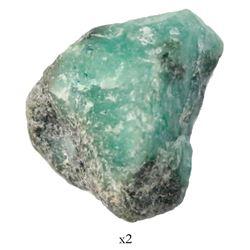 Natural emerald, 17.75 carats, from the Maravillas (1656).