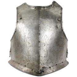 Early European siege-weight soldier's breastplate, 1600s.