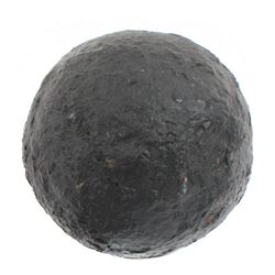 Small iron cannonball, professionally conserved.