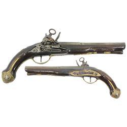 Ornate Spanish officer's miquelet pistol, 1700s.