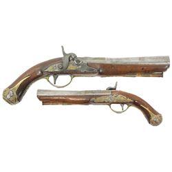 European or Spanish officer's blunderbuss pistol, 1700s.