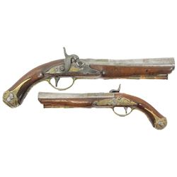 European or Spanish officer's blunderbuss pistol, 1700s.