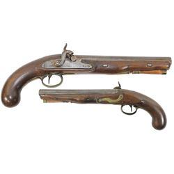 English officer's percussion pistol, maker T. Ketland & Co., ca. 1815-20.