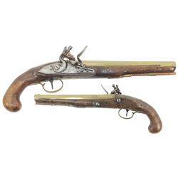 English officer's flintlock pistol, maker W. Ketland & Co., ca. 1815-20.