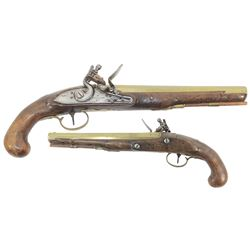 English officer's flintlock pistol, maker W. Ketland & Co., ca. 1815-20.