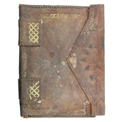 Spanish colonial leather dispatch case dated MDCCLXXVIIII (1779).
