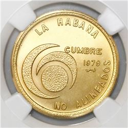 Havana, Cuba, 100 pesos, 1979, Non-Aligned Nations, NGC MS 68.