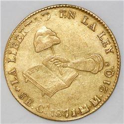 Chihuahua, Mexico, 8 escudos, 1871/61MM.