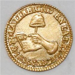 Mexico City, Mexico, 1/2 escudo, 1825JM.