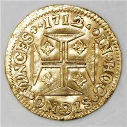 Portugal (Lisbon mint), 1000 reis, Joao V, 1712.